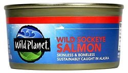 Wild Planet Wild Sockeye Salmon, Skinless and Boneless, 6 Ounce