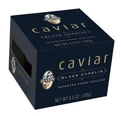 Season Black Capelin Caviar From Iceland, 3.5 Oz Glass Jar (Pack Of 4)