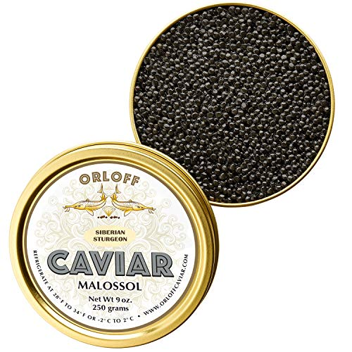 ORLOFF Seberian Osetra Caviar – 1 Ounce – Freshness GUARANTEED Overnight Delivery