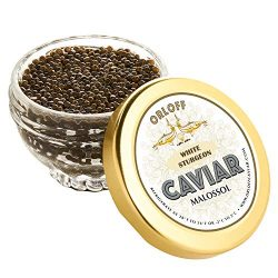 ORLOFF White Sturgeon Caviar – 1 Ounce – Freshness GUARANTEED Overnight Delivery