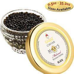 Marky's Russian Osetra Karat Black Caviar – 1 oz Premium Osetra Sturgeon Malossol Bl ...