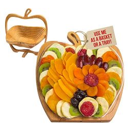Dried Fruit Gift Basket – Tray Turns into Basket – Healthy Gourmet Snack Box – ...