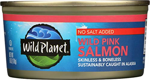 Wild Planet, Wild Pink Salmon, No Salt Added, 6 Ounce