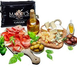 Marky's Caviar Gourmet Gift Basket – Deluxe Cheese and Deli Meat Platter – Per ...