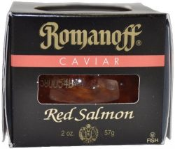 Romanoff Caviar Red Salmon, 2-Ounce Jars (Pack of 2)