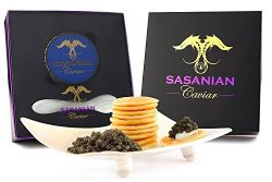 GUARANTEED OVERNIGHT! GIFT BOX – 50g Royal Osetra Caviar – FREE Mother of Pearl Spoon