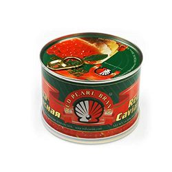 Red Salmon Caviar – Alaskan Salmon Roe – Lightly Salted Caviar in Can 1 Lbs or 454 g ...