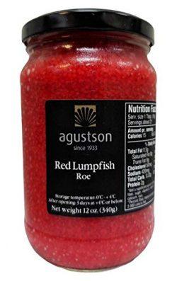 Agustson Red Lumpfish Caviar Roe, 12 Ounce