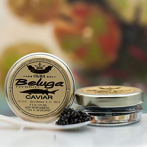 Beluga Sturgeon Hybrid Caviar, Rated Top Black Caviar in the World, Exclusively from OLMA – ...