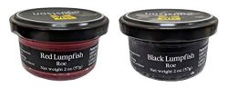 Agustson Black and Red Lumpfish Caviar Roe, 2 Ounce (Pack of 2)