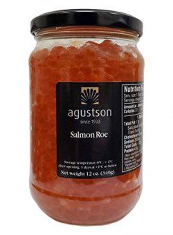 Agustson Salmon Roe Caviar, 12 Ounce