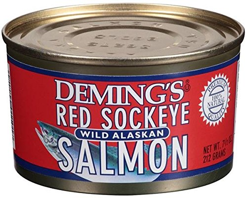 Deming's Wild Alaska Red Sockeye Salmon 7.5 oz (3 Pack)
