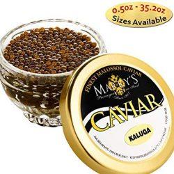 Marky's Premium Kaluga Sturgeon Black Caviar – 2 oz – Malossol Kaluga Black Ro ...
