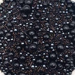 Black Caviar Sprinkle Mix by Simply Sucré | Bulk Sprinkles | Sprinkles | Wedding Sprinkles | Edi ...