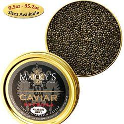 Marky's Grey Sevruga Premium Sturgeon Caviar – 1 Oz Malossol Sturgeon Black Roe R ...