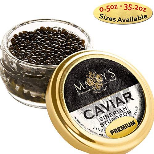 Marky's Baerri Osetra Sturgeon Black Caviar from Italy – 0.5 oz – Malossol Oss ...